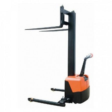 Record CLC10S Fully Powered Stacker with Straddle Legs