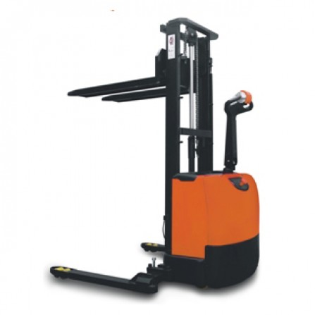 Record CLC12S Fully Powered Stacker with Straddle Legs