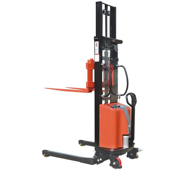 Record CTES Electric Stacker with Straddle legs