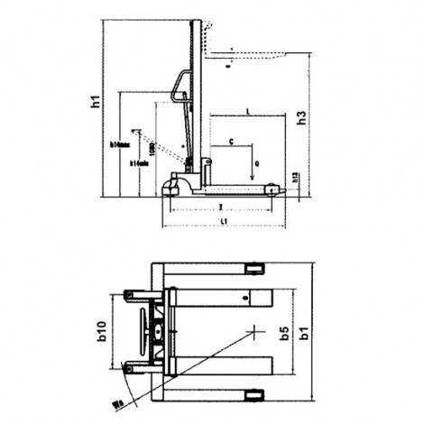 Record CTMS Manual Stacker with Straddle legs