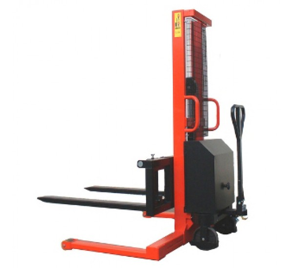 Record HES Electric Lift Straddle Stacker